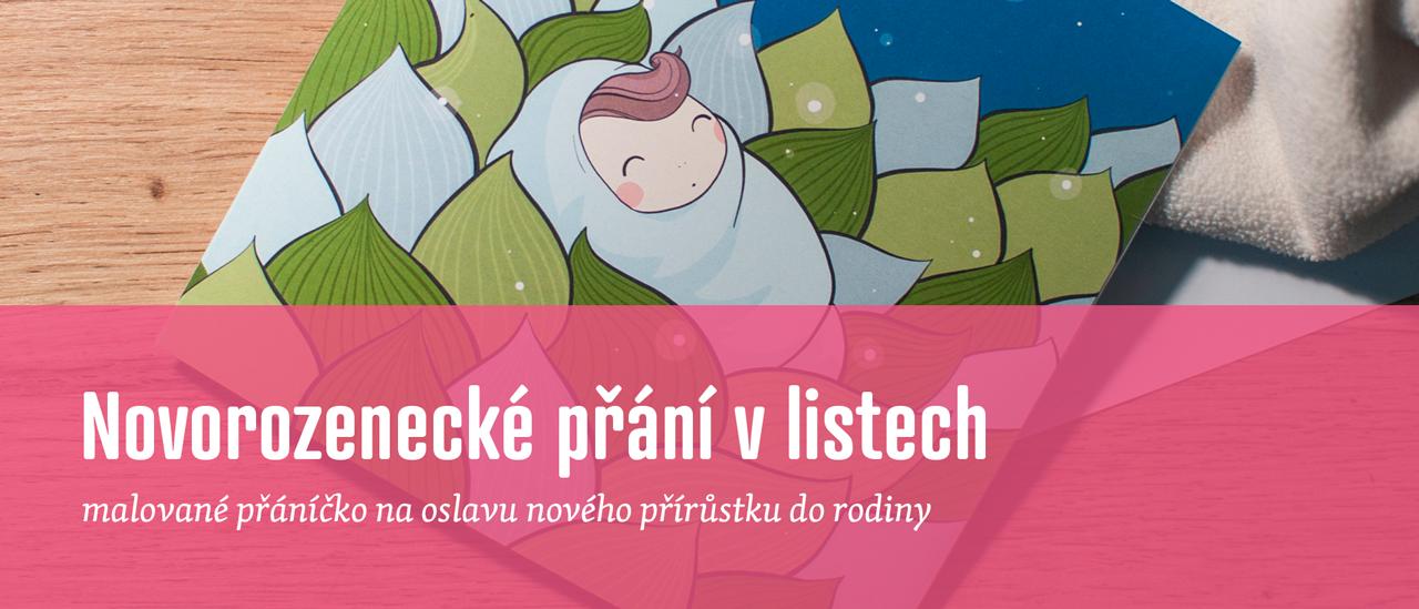 Novorozenecké přání v listech