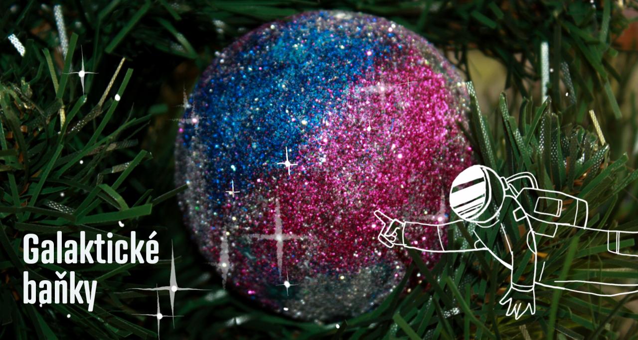 Zářící galaktické vánoční ozbody